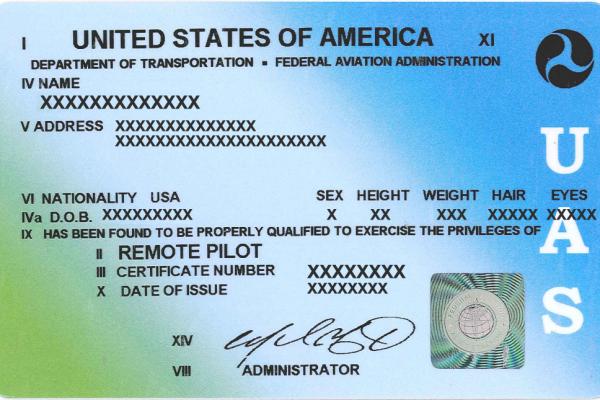 Remote Pilot sUAS Certificate